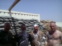 Aftermath of the Great Iraqi Shaving Cream battle
