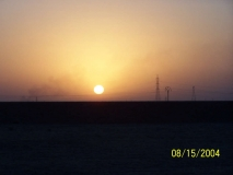 Sunset near Kirkuk