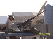 Spc. Parker from AT platoon on the .50 cal