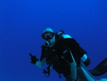 Me diving the Molokini Crater, Maui