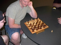 Scooby losing at chess