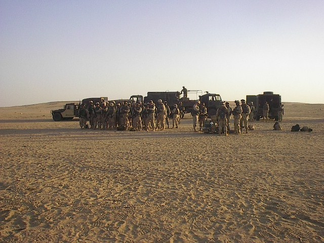Troops getting ready to go on the range