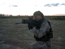 Me aiming my M4