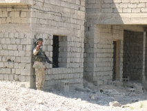 Spc. Lee on patrol in Al-Bassi